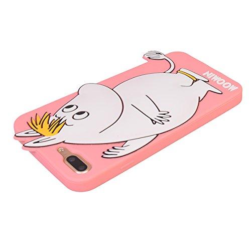 """iPhone 7 Plus (5.5"""") Hülle,COOLKE 3D Fashion Klassische Karikatur weiche Silikon Shell Schutzhülle Hülle case cover für Apple iPhone 7 Plus (5.5"""") - 004 006"""