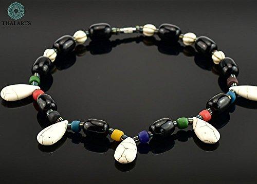 """Halskette """"Da Nil"""", Kette für Frauen (Korallenkette aus Handarbeit), exklusiver Schmuck mit Perlen für Frauen mit Stil. Handgefertigte Perlenkette aus Thailand"""