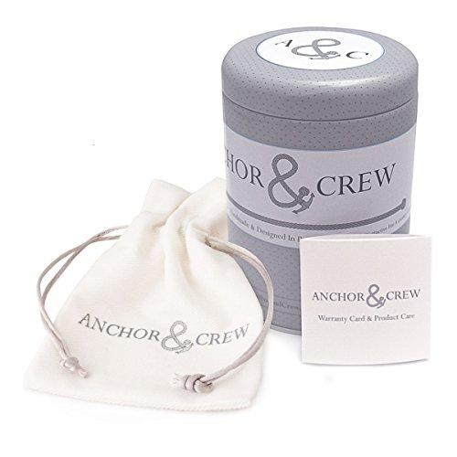 Anchor & Crew Bracelet Acier Inoxydable Unisexe Bleu
