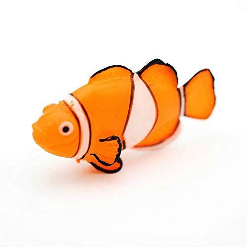 GOOTRADES 1 Stk/5 Stk Glühender Effekt Künstlicher Clownfisch, Aquarium Verzierung Fisch Tank Jellyfish Dekor (1 Stk)