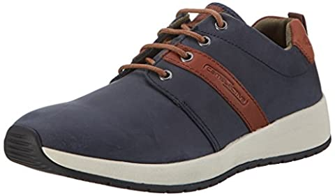 camel active Herren Jump 15 Sneakers, Blau (Midnight/Cigar 02), 43 EU