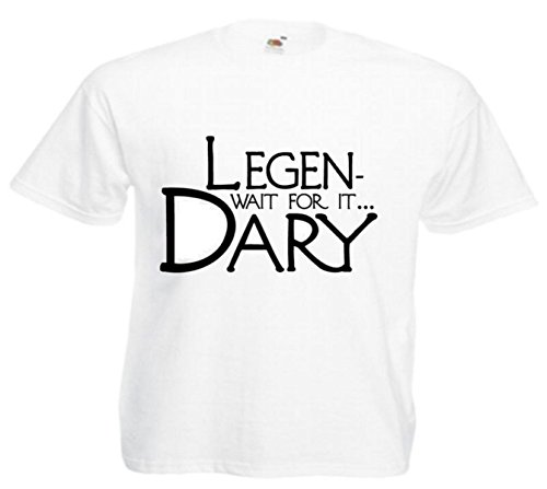 Motiv Fun T-Shirt Legendary How I Met Your Mother Motiv Nr. 3226 Weiß