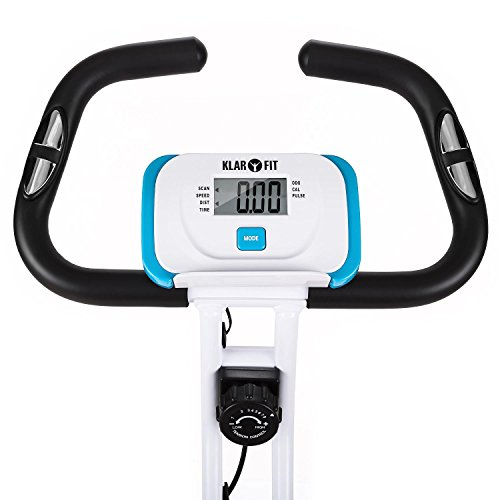 41FQgdWb7ZL. SS500  - Klarfit Azura Comfort • Ergometer • Home Trainer • Fitness Bicycle • Cardio Bike • Training Computer • Pulse Meter • 8-step Adjustable Resistance • 3kg Flywheel • Backrest