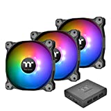 Thermaltake Pure Plus RGB 12 TT Premium Edition 3Pack / Ventola per PC con 12 LED RGB, Nero