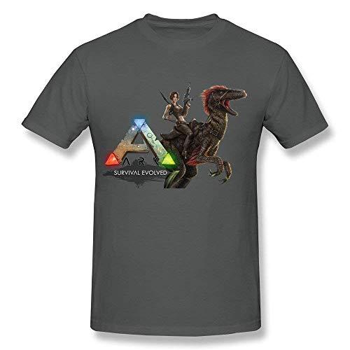 Herren Casual Ark Survival Evolved Tee Shirts Tshirt Kurzarm Rundhals Baumwolle T-Shirt Plus Size T-Shirt DeepHeather 2XL -