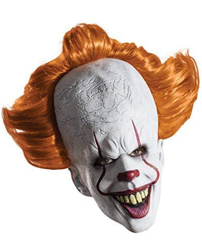 Horror-Shop Lizenzierte Pennywise Latex Maske aus Dem Remake von Stephen Kings Es als Halloween Verkleidung