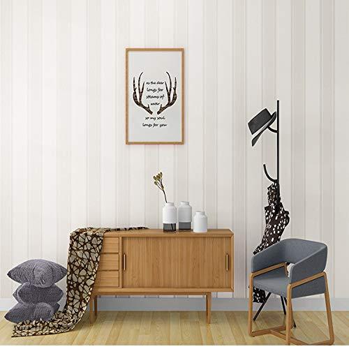 yhyxll Bei weißen Tapeten modernen minimalistischen einfarbigen vertikalen Streifen Tapete Schlafzimmer Wohnzimmer Nordic Tapete nach Hause 6