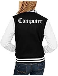 Computer College Vest Girls Black Certified Freak