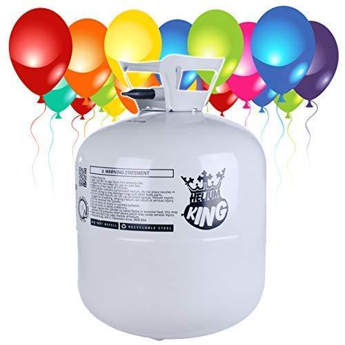 ongas XXL 420 Liter - Heliumflasche für 50 Luftballons + 50 Latexballons und DREI Bänder ()