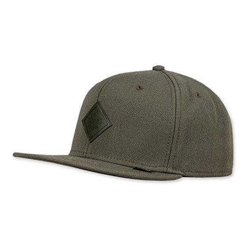 DJINNS - Monochrome (olive) - Snapback Cap (Cap Brim Olive)