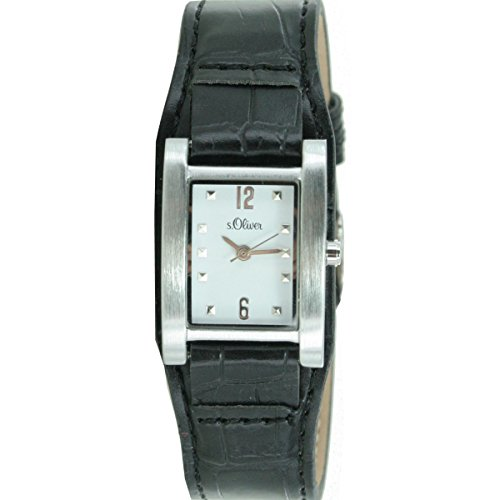 s.Oliver Damen-Armbanduhr Analog Quarz Leder SO-15034-LQR