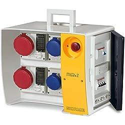 Scame mbox 2 - Cuadro obra mbox2 regleta pulsador 3 polos+neutro+tierra 23a 400v