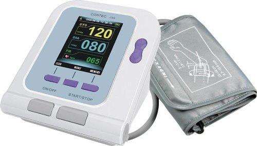 Bestdental Contec08A Digitales Blutdruckmessgerät für den Oberarm, Pulsfrequenz & SpO2 Messgerät