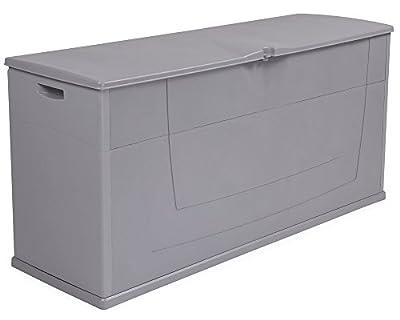 Kissenbox Auflagenbox Gartentruhe Karisma 270 Liter grau abschließbar