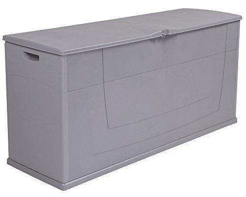 Kissenbox Auflagenbox Gartentruhe Karisma 270 Liter grau abschließbar -
