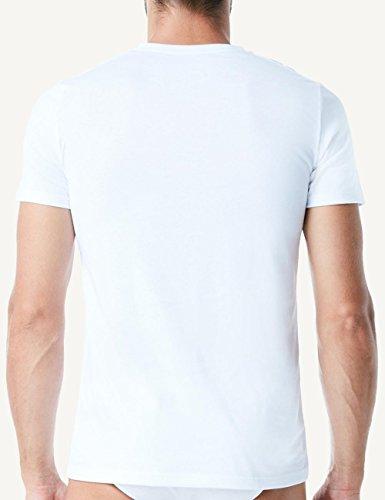 Intimissimi Herren Kurzarm-T-Shirt mit V-Ausschnitt aus Supima®-Baumwolle Weiß - 001