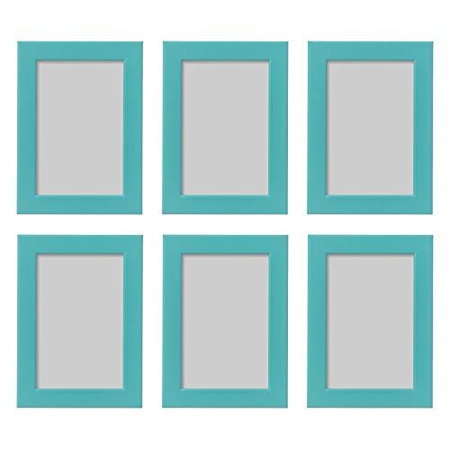 Ikea Fishbo Bilderrahmen, 10 x 15 cm, Blau/Türkis, 6 Stück -