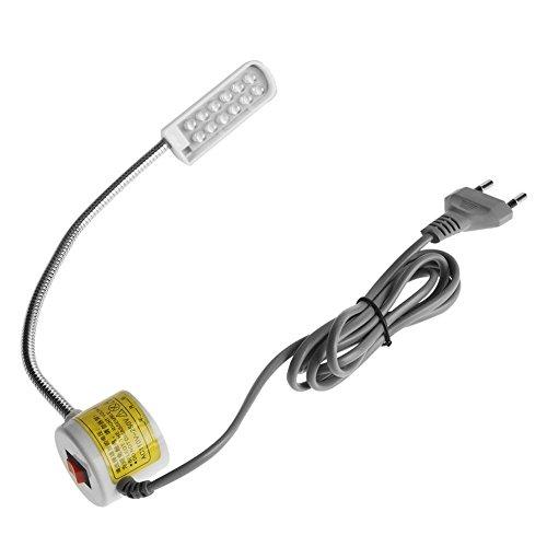 Akozon Nähmaschine LED-Licht, Schwanenhals LED-Licht einstellbar mit Magnetfuß für alle Nähmaschinen mit Tageslicht-LEDs(#6) -
