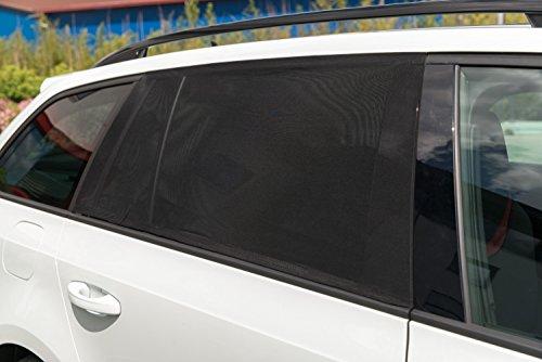 Auto-Sonnenschutz Sonnenblende universal, schwarz, 2er Pack, mit Aufbewahrungsbeutel (Folie Elasthan)