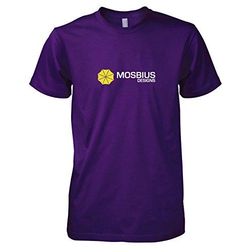 TEXLAB - HIMYM: Mosbius Designs - Herren T-Shirt, Größe XXL, violett (Ted Kostüm Himym)