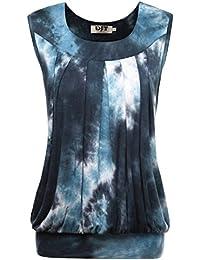 DJT Debardeur gilet T-shirt Sans manches pour ete Casual Crop Tops Femme