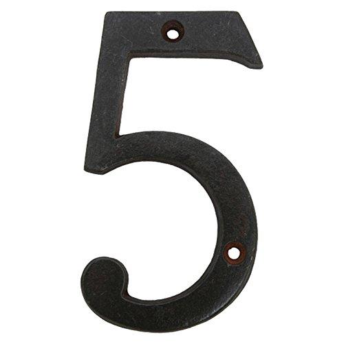 Ellas-Wohnwelt Die ultimative Hausnummer Fünf aus Eisen Antik schwarz (Hausnummern Eisen)
