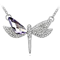 Europe and the United States fashion simple dragonfly animal pendant necklace