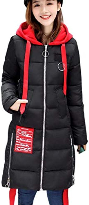 Cappotti Donna Lunga Invernali Manica Lunga Eleganti Addensare Caldo Cappotto  Trapuntato Incappucciato Eleganti Lunga Classiche... c9d9ce 1834ab6f0ef