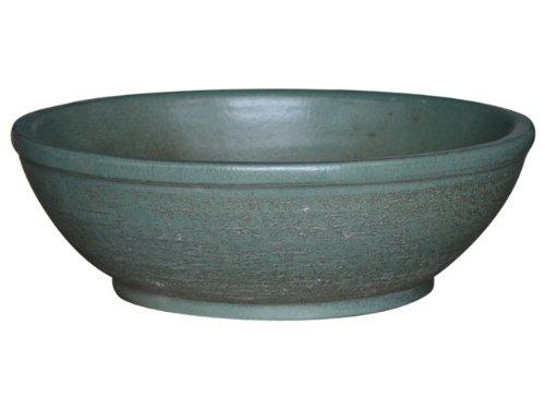 C & k bonsai pot xL/capetown plate 20.0 x 58 cm (vert mat) frostbeständiger grès, en céramique