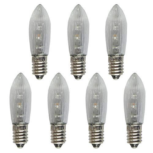 ersatzbirnen lichterbogen netSells® * 7 Stück * 0,2 Watt LED Topkerze/Riffelkerze / Spitzschaftkerze * 10-55 V * für innen * * klar