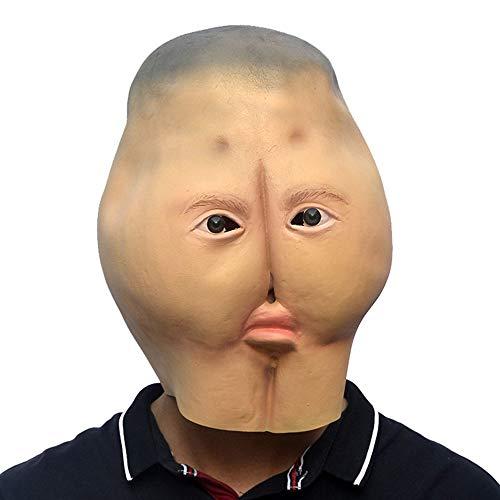 Boo Für Kostüm Erwachsene - ANLW Ass Maske Halloween Latex Maske Kostüm Erwachsene Kostümspiel für Festival Party