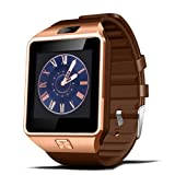 Familizo 1PC Bluetooth Smart Watch DZ09 GSM Smartwatch for Android Phone (☆Gold)