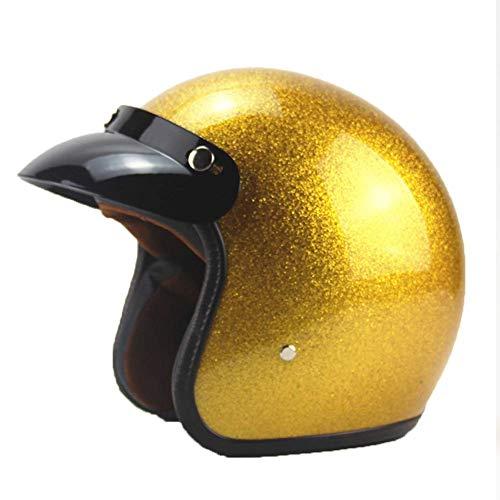 L&WB Motorradhelm Helm Helm Helmet Männerlokomotive Vier Jahreszeiten weiblicher Herbstwinter,XXL(60~61cm)