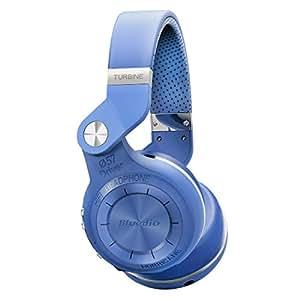 Bluedio T2S (Turbine 2 Shooting Brake) Bluetooth Stereo Headphones Wireless Headphones Auricolari Cuffie Bluetooth 4.1 Headset Hurrican Series Over The Ear Headphones Gift Package (Blu)