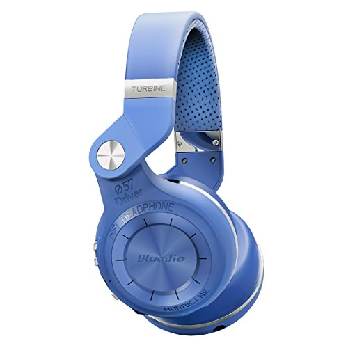 Bluedio Turbine 2 Shooting Brake T2SLCA001 -  Auriculares inalámbricos Bluetooth con micrófono plegable, color azul width=