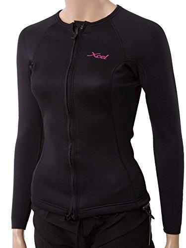 Xcel New Chaqueta para Mujer con Cremallera Frontal de 1 mm, Color Negro, 24, Black (WN236Z7S)