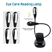 TAIR Clip On Book Light Double Arms LED Reading Light in Bed Eye-care Book Reading Lamp for Kids by TAIR