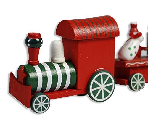 Vetrineinrete® trenino natalizio in legno con locomotiva e 2 vagoni decorazioni natalizie giochi per natale per bambini idea regalo 88563 d41