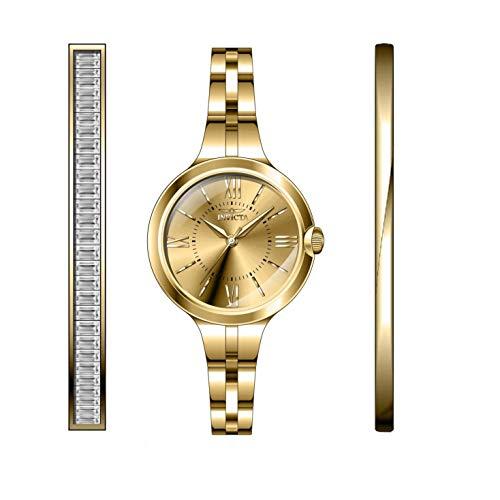 Invicta Angel Reloj de Mujer Cuarzo analógico Correa y Caja de Acero 29340