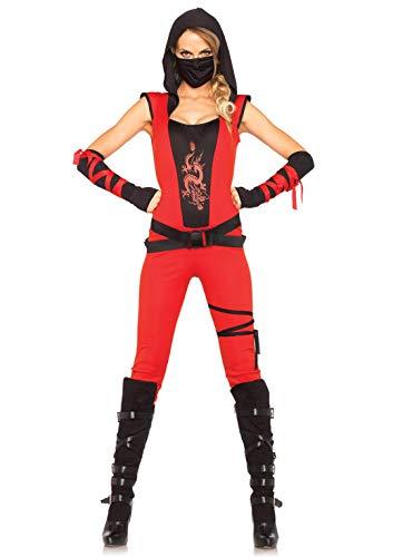 Leg Avenue 85384 - Ninja Assassin Damen kostüm , Größe Medium (EUR 38), Damen Karneval Kostüm Fasching