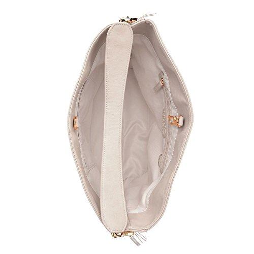 9855R borsa donna LIU JO MEDITERRANEO secca grigio double bag hand bag woman Cemento