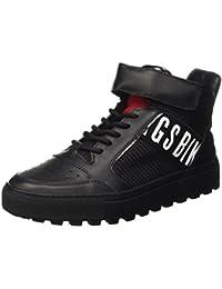 Bikkembergs Track-Er 765 Mid Shoe M Leather/Fabric, Scarpe a Collo Alto Uomo