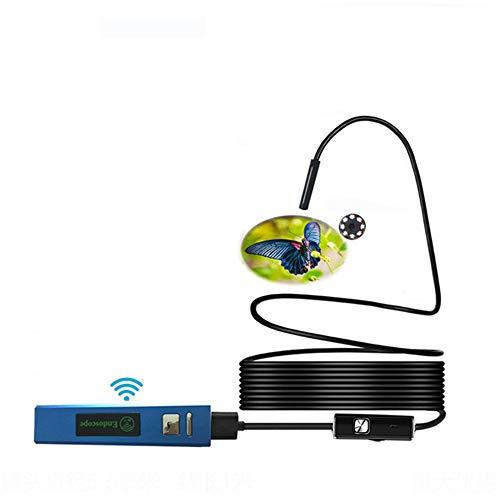 FSM88 Drahtloses Endoskop, WiFi-Endoskopinspektionskamera, HD-Serpentinenkamera, IP68 wasserdicht, 1,3 MP, halbsteif, 8 mm mit 6 LED-Leuchten. für Android und iOS Smartphone (2M)
