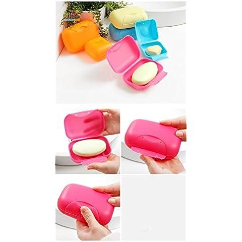 Pyrios (TM) Caso Bagno piatto del piatto di casa doccia viaggio escursionismo del contenitore di Soap Box (colore casuale)
