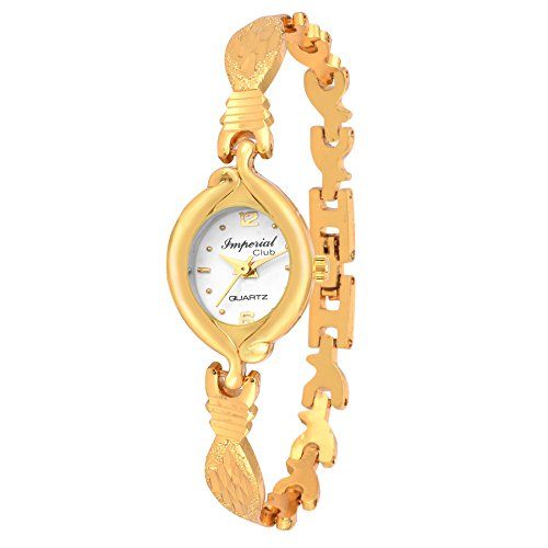 Imperial Club Face Lock Gold Desire Analog White Dial Women\'s Watch (wtw-012