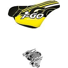 sillin de enfant selle Bassano i-go ergonomique avec noix jaune vélo 3962am