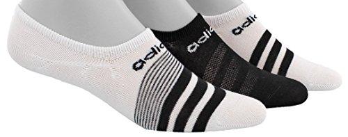 adidas Damen Superlite Super No Show Socken (3er Pack), Damen, weiß/schwarz, Einheitsgröße - Ped Socken