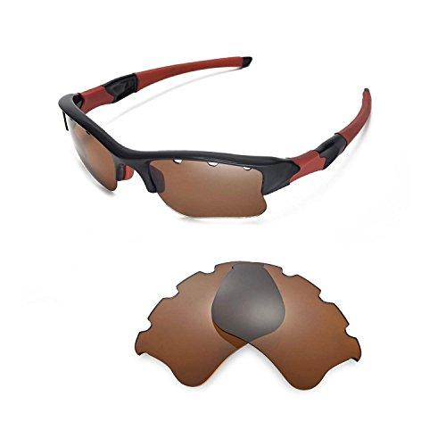 Walleva Ersatz belüftete Linsen für Oakley Flak Jacket XLJ Sonnenbrille - 10 Optionen (Braun - polarisiert)
