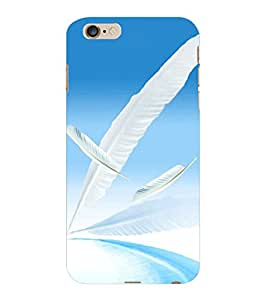 ColourCraft Lovely Feathers Design Back Case Cover for APPLE IPHONE 6S PLUS