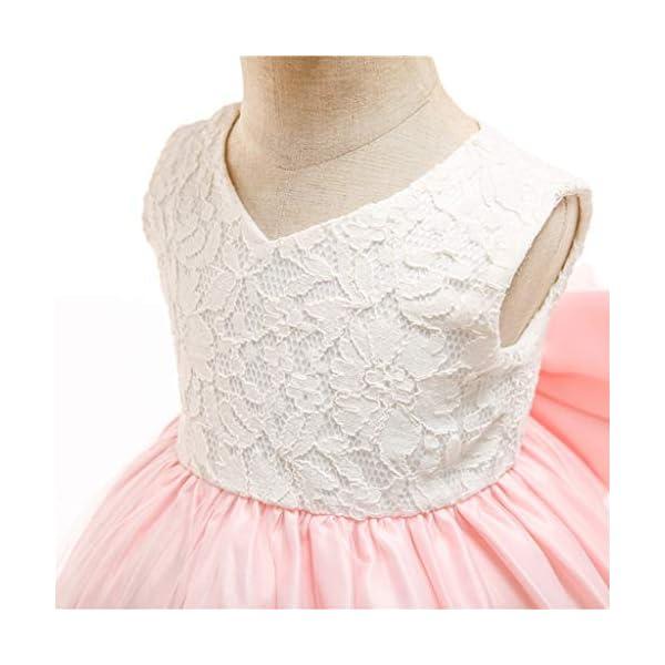 YGbuy Vestido de Novia de Encaje Bordado sin Mangas para Niñas Vestido de Princesa Vestido de Falda + Conjunto de… 4